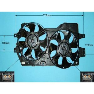 Condenser Cooling Fan Chrysler Voyager 2.0 Petrol Manual/Automatic (Apr 1998 to Mar 2001)