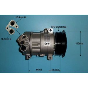 Compressor (AirCon Pump) Chrysler Delta 1.4 Petrol Manual/Automatic (Aug 2011 to 2019)
