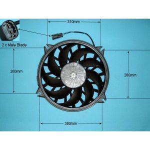 Condenser Cooling Fan Citroen C5 2.0 Petrol Manual/Automatic (Jun 2002 to Aug 2004)