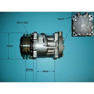 Compressor (AirCon Pump) Agco 8000 Series 8610 Diesel Manual/Automatic (1980 to 2019)