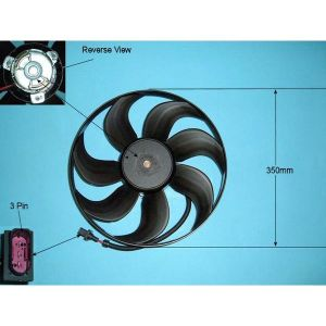 Condenser Cooling Fan Audi A3 1.6 Petrol Manual/Automatic (Sep 1996 to Apr 1999)