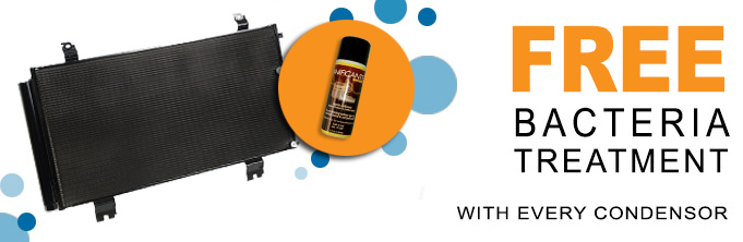 With each car aircon condenser order, get a Free Bacteria Treatment
