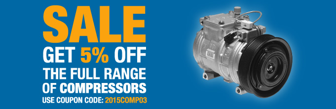 Save 5% off all car air conditioning compressors