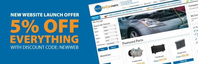 New Auto AirCon Parts Website - Launched Today with Special Offers