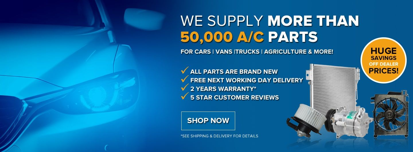 Over 50000 car air conditioning parts in stock